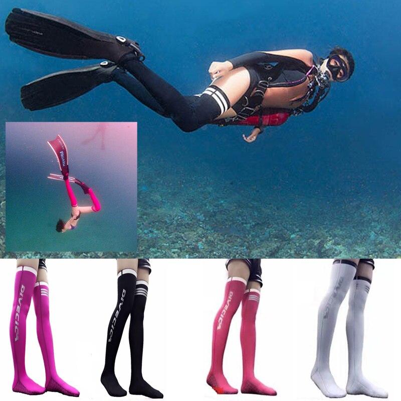 2mm plongée genou bas genou longueur bas long baril chaussettes Sexy dames Football chaussettes de plongée