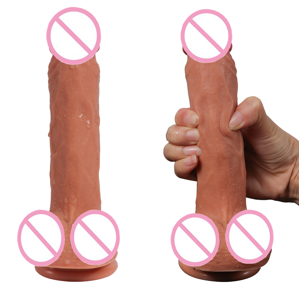 HOWOSEX 7.87 inch Soft Realistic big liquid silicone Dildo Double Layered huge Penis With Suction Cup Adult Sex Toy for woman new anal dildo realistic dildo with strong suction cup fake penis long butt plug anal plug sex toys for women sex products