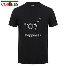 Happiness Serotonin Molecule Chemistry T-shirt