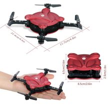 FQ17W  6-Axis Gyro Mini Wifi FPV Quadcopter Foldable G-sensor Pocket Drone with 0.3MP Camera Altitude Hold RC Helicopter