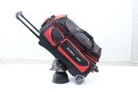 100% гарантия качества 3 мяча двойной ролик Боулинг сумка с бесплатной доставкой;