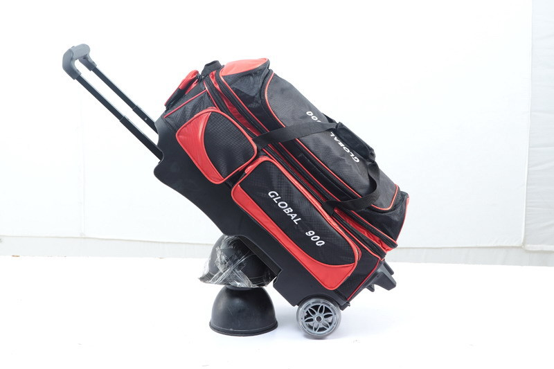 100% quality guarantee 3 Ball Double Roller Bowling Bag