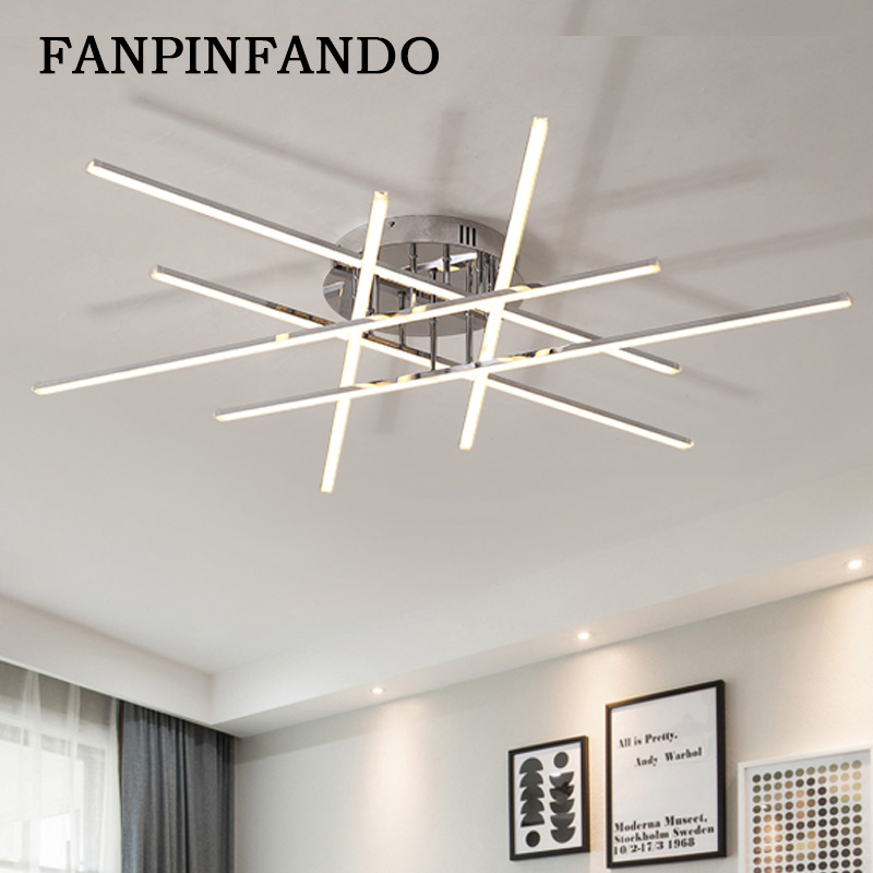 Modern Led Ceiling Lights for Living Room Kitchen Ceiling Lamp with Remote Control Flush Mount Ceiling