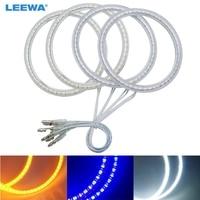 LEEWA Car LED Halo Rings Angel Eyes DRL Head Lamp For Chevrolet Captiva S3X (06 2011) Light White 2x100mm/2x106mm #CA1017