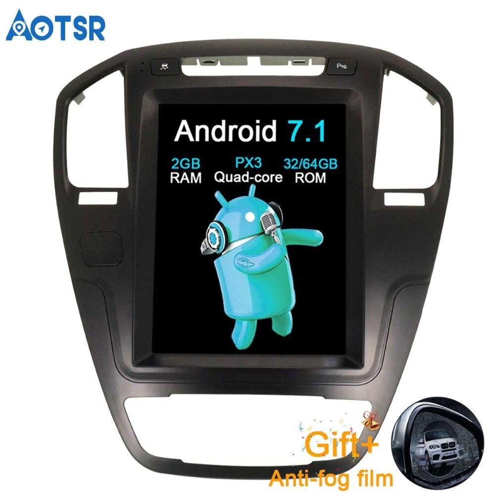 Aotsr Android 7,1 Автомобильный gps навигатор автомобиля нет DVD для Opel Insignia Vauxhall Холден стерео головного устройства Sat Nav мультимедиа 2 г + 64