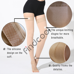 Image 3 - Findcool בגובה הברך גרבי דחיסה רפואית דליות גרב דחיסת Brace גלישת עיצוב עבור נשים גברים