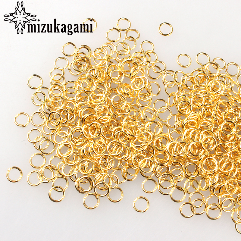 3-8mm Gold 200Pcs/lot Fashion Jewelry Findings Accessories Iron Gold Jump Rings For DIY Jewelry Accessories Free Shipping