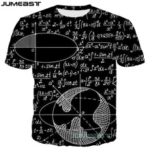 Jumeast New Fashion 3D Printed Math Physics Formula Men/women T-Shirts Funny Geometric Figure Summer O-neck Short Sleeves