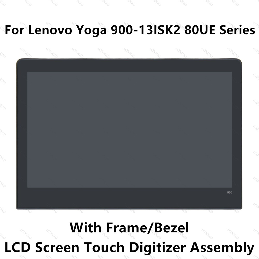 цена на 13.3'' Full LCD Display Panel Touch Screen Glass Digitizer Assembly with Bezel For Lenovo Yoga 900 Yoga 900-13ISK2 80UE Series