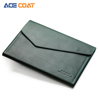 ACECOAT Split Leath Laptop Sleeve Case Bag With Handle Pockets For MacBook Air Pro Retina 13