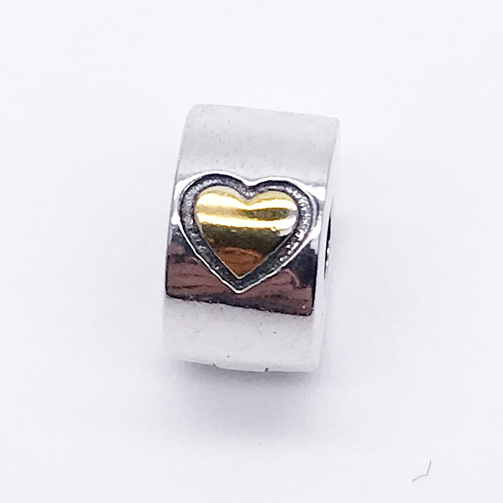 High Quality 925 Sterling Silver Only Love Heart Clip Beads Fit Original Pandora Charm Bracelet Jewelry Gift