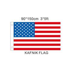 Флаг KAFNIK, 150x90 см счастливые Подарки Высокое качество D Подробная информация о новом полиэстере американский флаг втулки флаг США