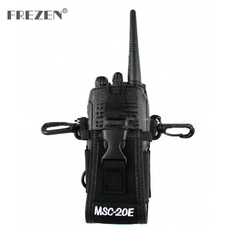 MSC-20E Portable Walkie Talkie Nylon Case Cover Handsfree Holder For Baofeng  UV-9R TYT Motorola GP338 GP328 Icom Walkie Talkie