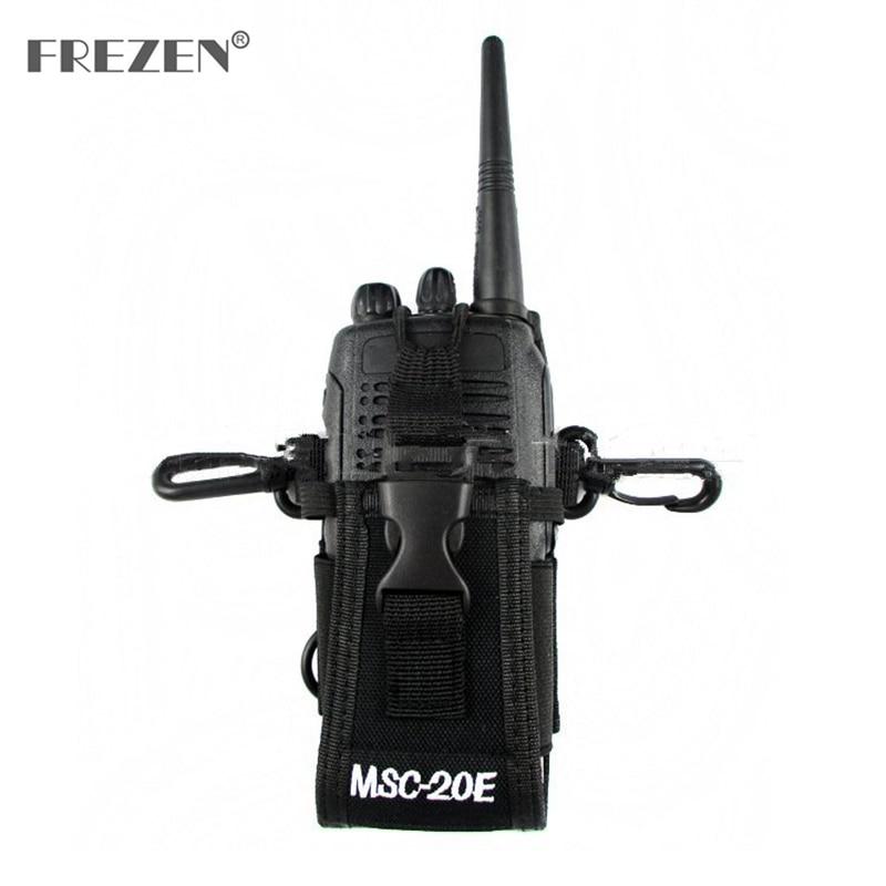 MSC-20E Portable Walkie Talkie Nylon Case Cover Handsfree Holder For Baofeng  UV-9R TYT Motorola GP338 GP328 Icom Walkie Talkie