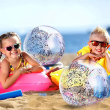 16inch/24inch Glitter Inflatable Beach Ball Water Balloons Volleyball Party Game Toys For Adult Children Outdoor Balls