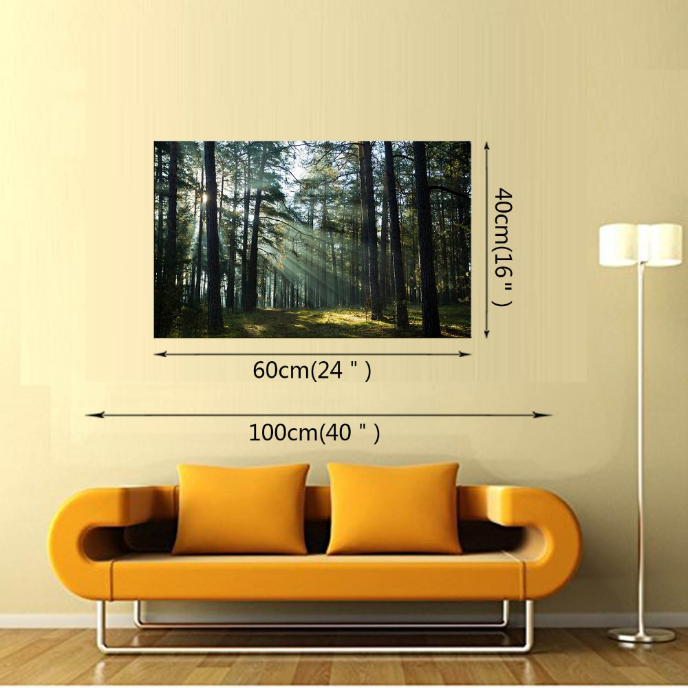 1 Panel forest and sunset sunlight autumn woods canvas print ...