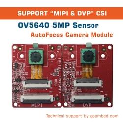 OV5640 5MP أوتوفوكس وحدة MIPI CSI و DVP CSI دعم NXP imx6 لينكس/الروبوت سائق كاميرا مزدوجة واحدة كاميرا