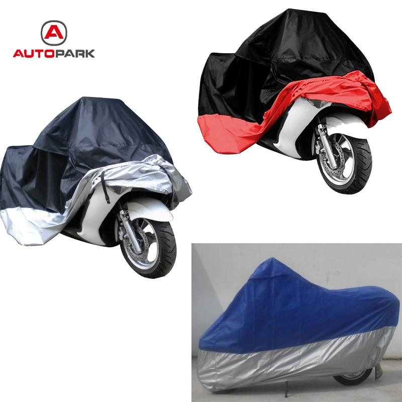 180T Black+Blue Waterproof Outdoor Scooter Rain Dust Bike Motorcycle Cover XL