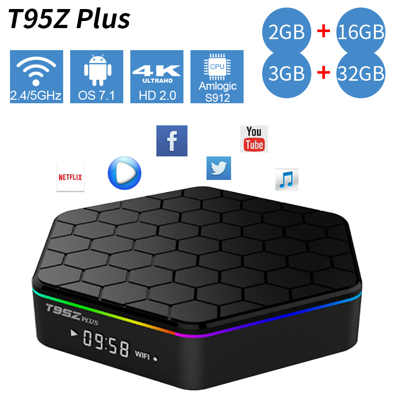 Cheap for all in-house products t95z plus tv box wifi 3gb