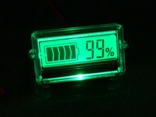 LCD battery capacity indicator 8-63v battery level display meter with transparent shell voltameter coulombmeter scooter parts