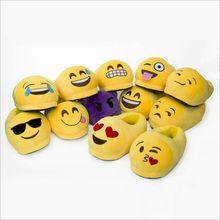 Hiver hommes Femmes Accueil Chaussures Indoor Chaud drôle Emoji Pantoufle En Peluche Coton pantoufles Smiley Emoji Animal pantoufle Size35-44 Pantufa