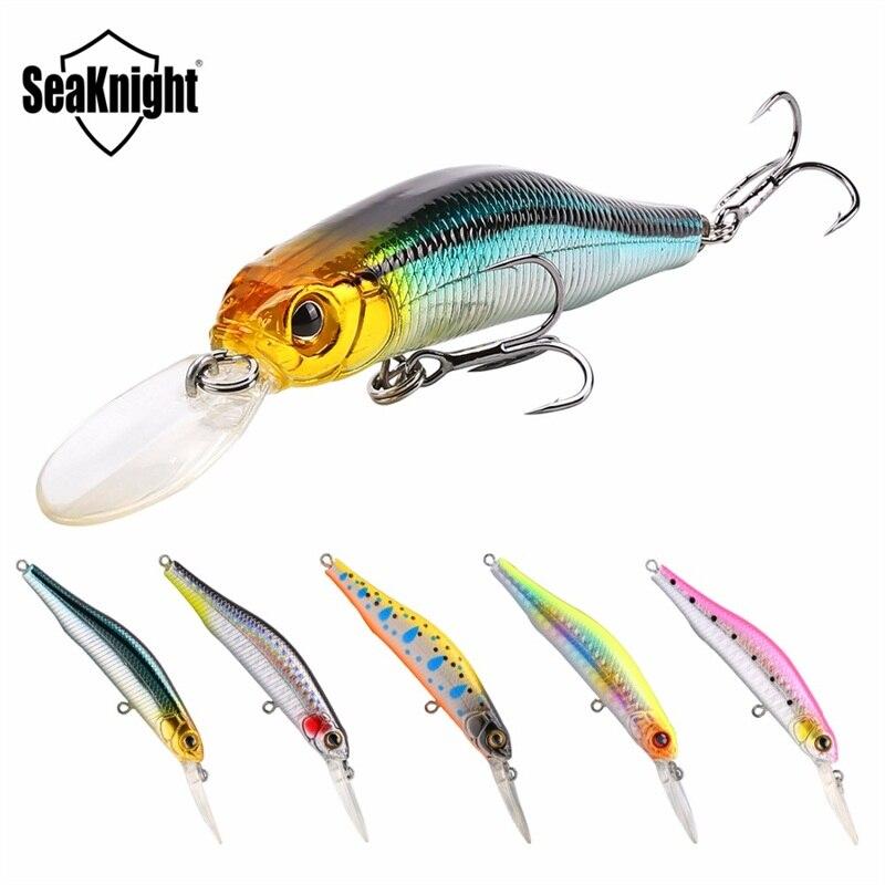 SeaKnight SK022 1PC 80mm 9g Suspending Minnow Fishing Lures 0~1.5M Depth 3D Fish Eye Hard Bait Floating Lure For Carp Fishing