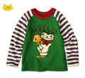 2016 brand girl boys sweatshirt Cotton Fashion children clothing cartoon Frog prince Monster Tracksuit t shirts baby kids tops