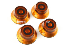 Niko 1 Set of 4pcs Brown Hat Electric Guitar Knobs For SG Style Electric Guitar Free Shipping Wholesales