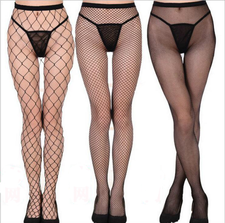 2018 New Fashion Women Sexy Fishnet Stockings Female Black Mesh Lingerie Sheer Tights Long Stocking Over The Knee Sock