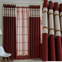 Custom Made Luxury Linen Fabric Cortinas Blackout Curtains for Living Room Joyous Wedding Eco-Friendly Tulle Curtains Rideaux