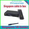 2017 última estable Singapur starhub tv box cuadro negro V8 de Oro HD set top box 239 internet gratuito ver canales canales sta * hub