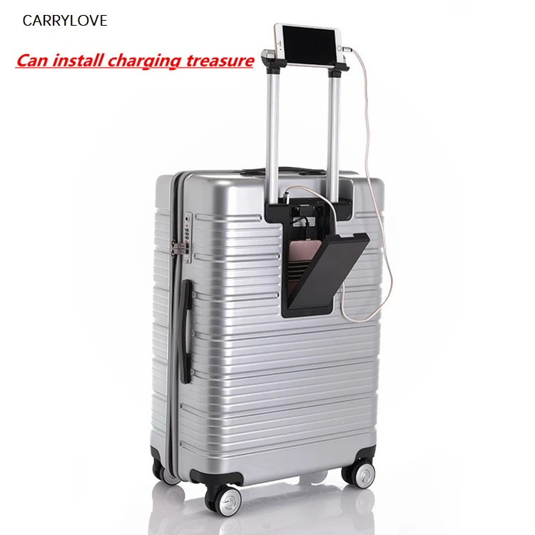 CARRYLOVE Rolling Travel Luggage Bag,Wheel Suitcases With Charging Treasure,Women New Carry-On,Men 20