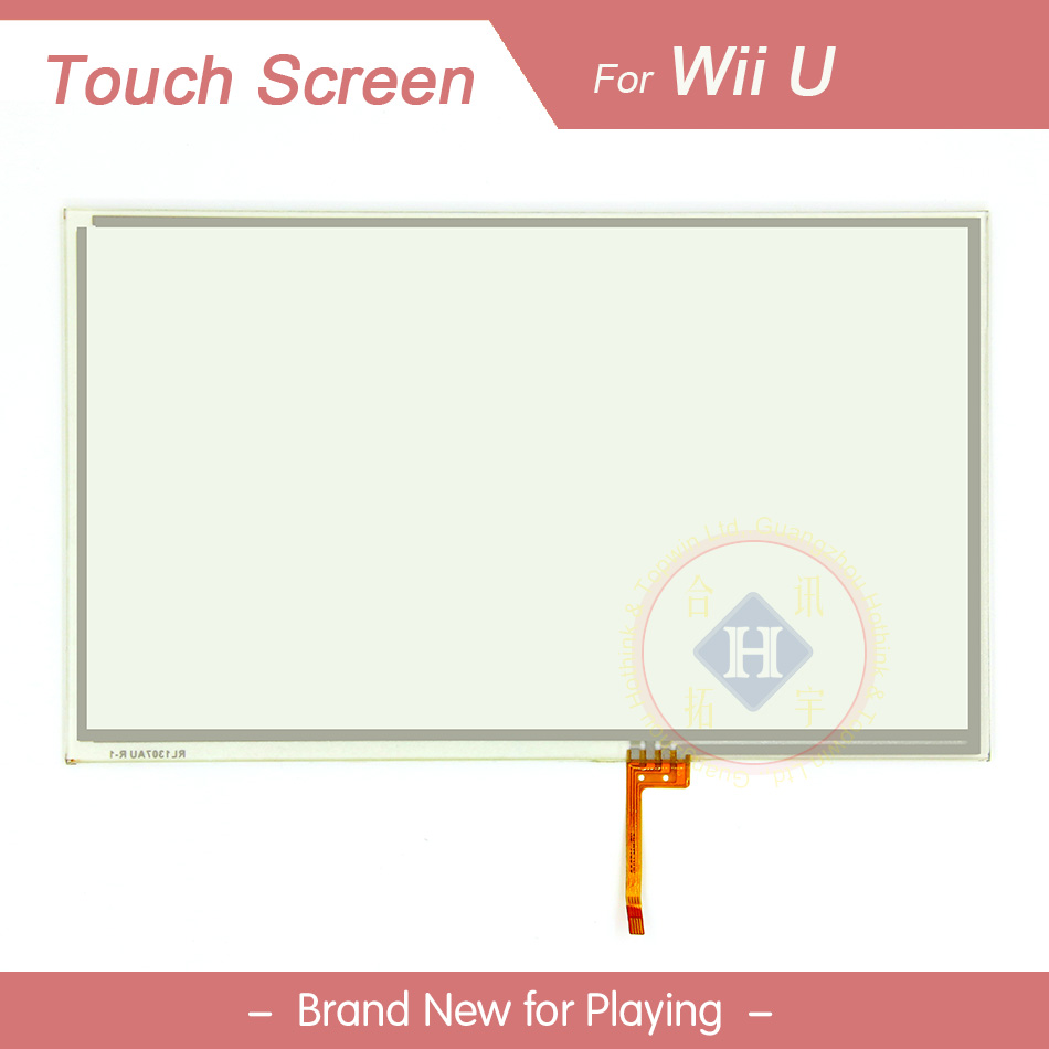 HOTHINK Touch Screen Digitizer Glass Panel For Nintendo WII U WIIU Gamepad