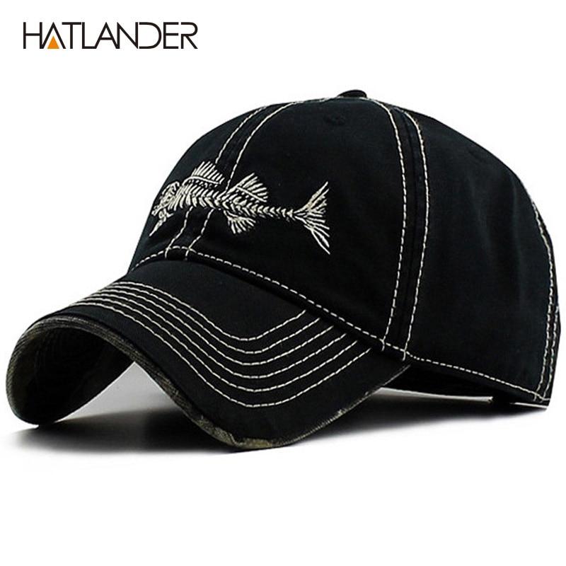 HATLANDER Υψηλής ποιότητας πλυμένο βαμβάκι καλύτερο καπάκι καπέλο καπέλο μπέιζμπολ με ρυθμιζόμενο καπάκι και για άνδρες και γυναίκες
