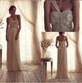 Beach Wedding Dresses 2014 New Off Shoulder Beading Bodice A Line Strapless Bow Sash Chapel Train Chiffon Bridal Gown KM-202