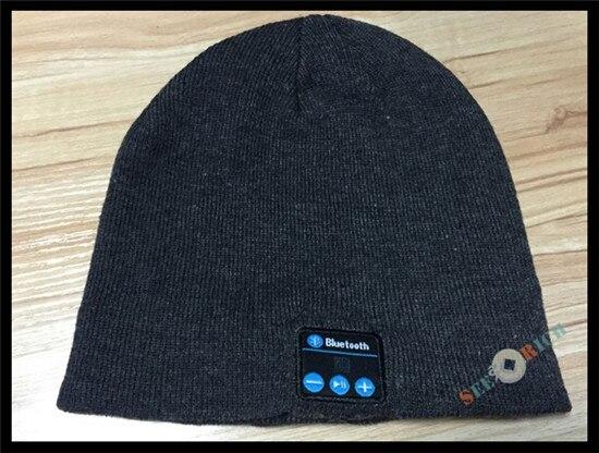 Беспроводной Bluetooth V4.2 Beanie для мальчиков и девочек, мужчин и женщин, вязаная зимняя шапка для наушников, ручной Mp3 микрофон, волшебная музыка, умная шапка+ подарочная коробка - Цвет: Темно-серый