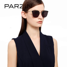 PARZIN Vintage Shield Sunglasses Women Alloy Big Frame Sun G