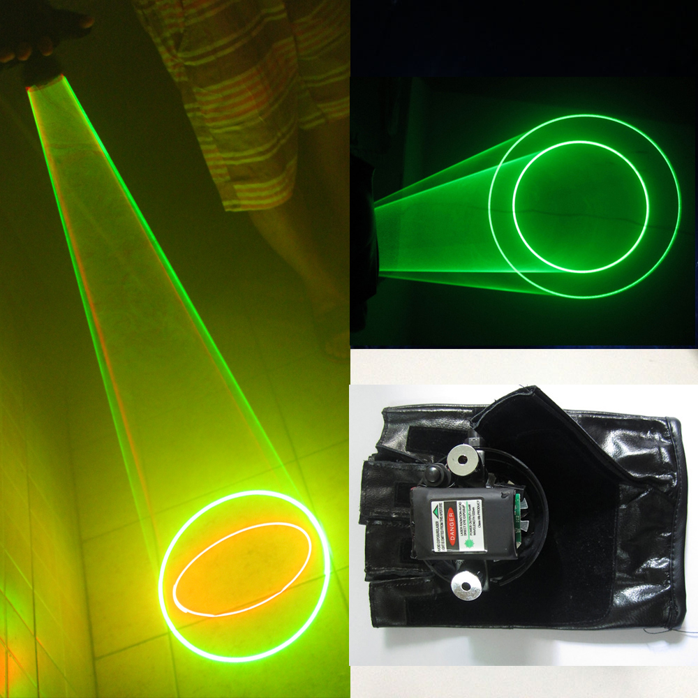 Red Green Laser Gloves Auto Rotating Vortex Hand Dance Club DJ Rotary Laser Glove Bar Party Great Laser Equipment