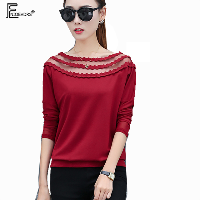 Casual T Shirts Autumn Winter Basic Wear Women Fashion Long Sleeve ...