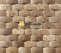 Strip Natural Coconut Art Mosaic Tiles Coconut Panel Beautiful Gougers Art Mosaic Tiles Wall Tiles Backsplash