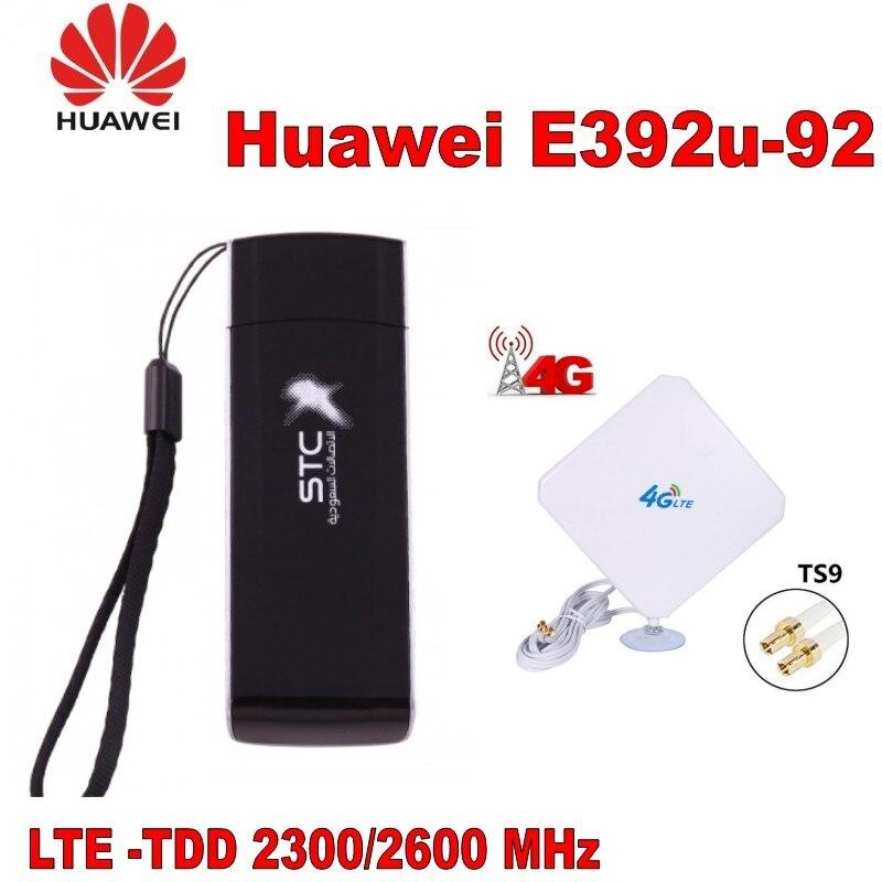 Huawei E392 E392U-92 100 mbps sans fil 3g 4g usb sim dongle avec antenne 4g