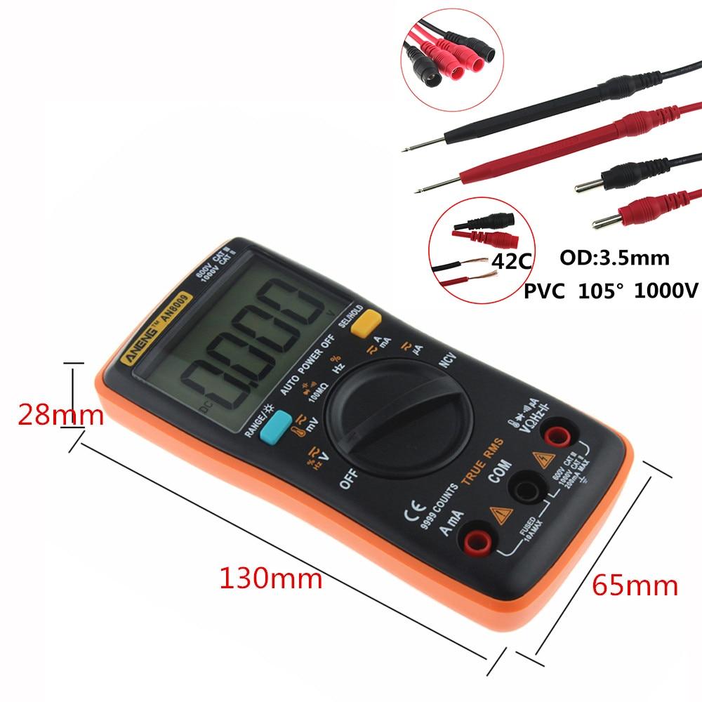 HTB1vz89rbsTMeJjy1zbq6AhlVXaf ANENG AN8009 True-RMS Digital Multimeter transistor tester capacitor tester automotive electrical capacitance meter temp diode