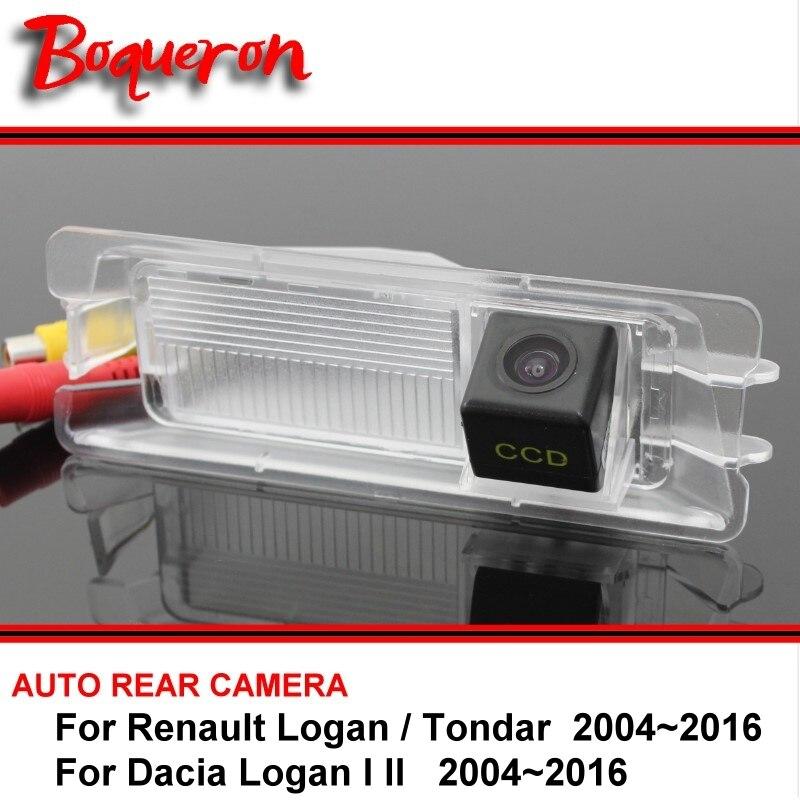 For Renault Logan / Tondar For Dacia Logan I II Night Vision Rear View Camera Reversing Camera Car Back up Camera SONY HD CCD