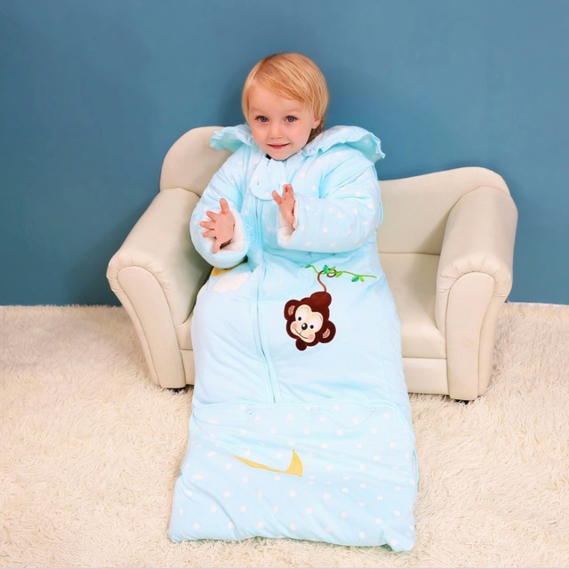 High Quality Children Anti Kicking Quilt Cotton Sleeping Bag Baby Warm Winter Thickening Children Infant Sleepsack C01