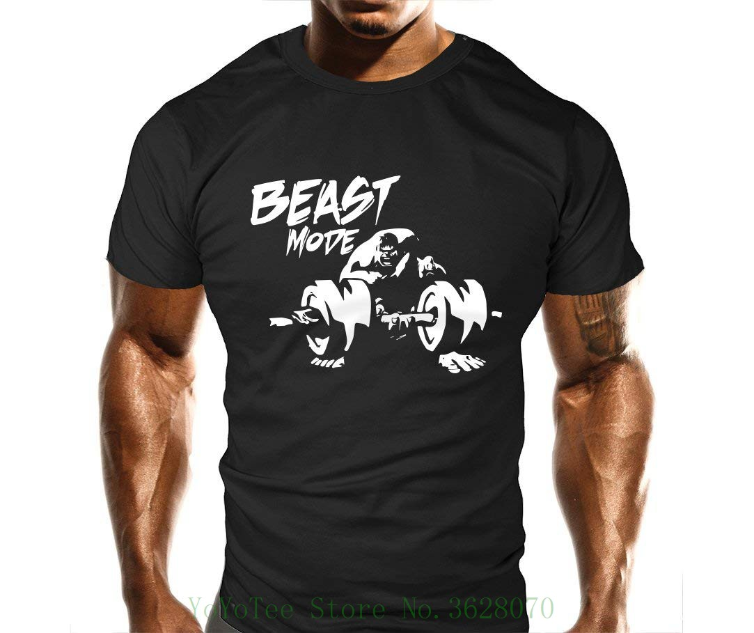 100% Vero New Mens Bestia Bicipite Curl Palestra T Shirt-trainer Top-sportsy-bodybuilding Casual Loose Fit Top Fresco O-collo Magliette E Camicette