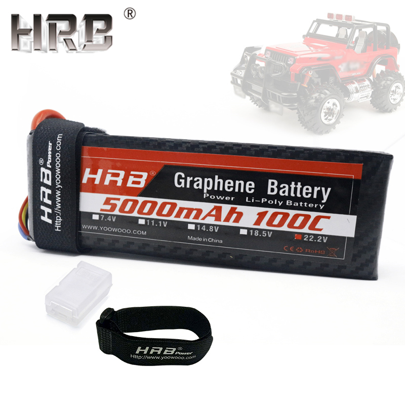 HRB 22 2V 5000mah Graphene 6S Lipo Battery 100C EC5 XT90 For RC Catamaran Boat 4WD