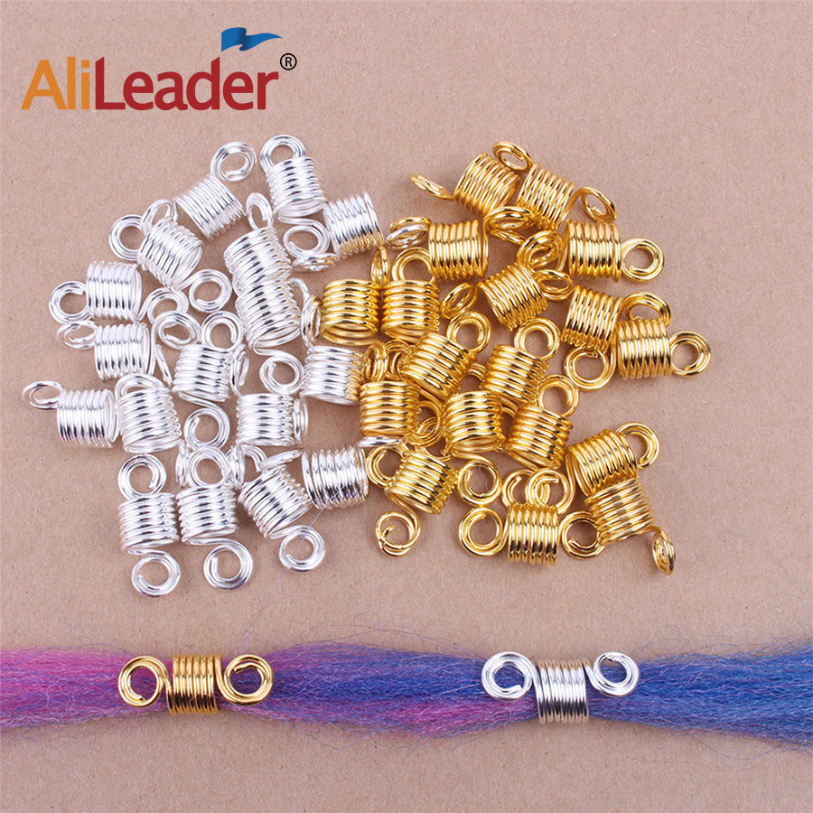 Alileader Spring Hair Rings Of Dreadlocks Hair Accessories  Beads For Dreads  Braid Beads For Female Gold Spiral Hair Braiding