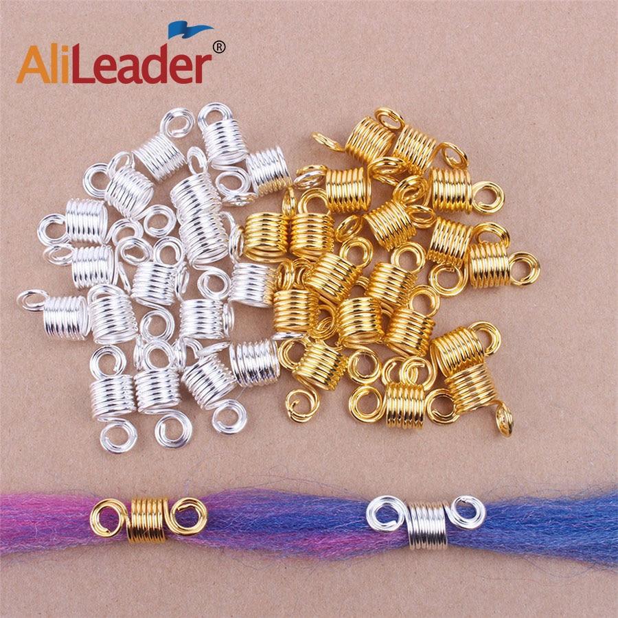 Alileader Spring Hair Rings Of Dreadlocks Hair Accessories  Beads For Dreads  Braid Beads For Female Gold Spiral Hair Braiding