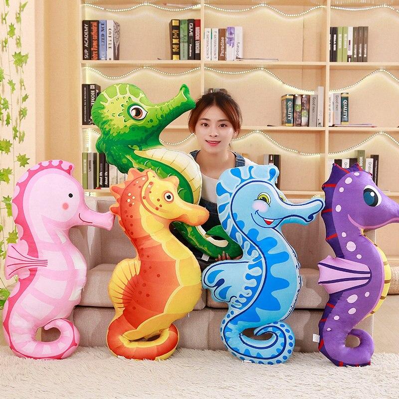 80 cm coloré hippocampe en peluche jouet doux en peluche belle poupées pour enfants apaiser jouet décoration de la chambre de bébé