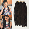 "Faux Locs Synthetic Dreadlocks Braids Hair Extensions 18"" 100g/pc Crochet Soft Dread Hair Havana Mambo Twist Crochet Braid Hair"
